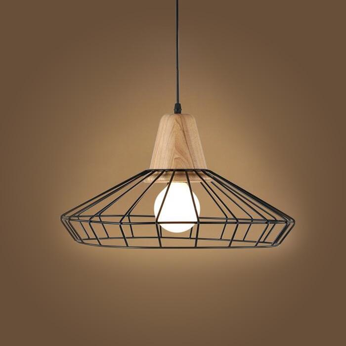 modern simple chandelier creative wooden iron chandelier personality lighting balcony decorative lamp edison bulb e27 110v - Edison Chandelier