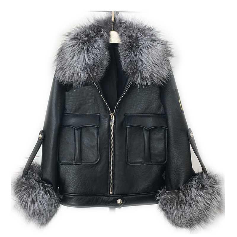 NGSG Winter Real Fur Collar Cuffs Set Genuine Raccoon Arm Warmer Fur Cuffs Thick Natural Silver Fox Fur Cuffs Bracelet Manguito