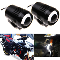 2pcs Black LED Motorcycle Headlight Spot Head Light Motorbike Fog Lamp Bulb ATV SUV Car U2 1200LM 30W Motor Bike Light 12V DC