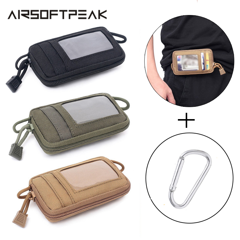 Tactical Molle Pouch Wallet Card Bag Nylon Waterproof Key Holder Money Case Pack Military Outdoor Hunting Traveling Waist Bags