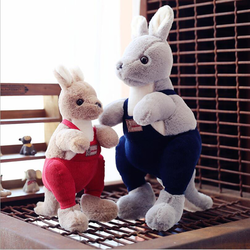 New Creative Lovely Wearing Clothe Kangaroo Soft Plush Toys Stuffed Animal Plush Doll Toy Children Gift Baby Toys in Stuffed Plush Animals from Toys Hobbies