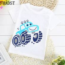FHADST New Summer Fashion Children Cotton T-Shirts Boy Clothes Baby Short Sleeves Character Sport Tops Casual Lovely Coat Kids(China)