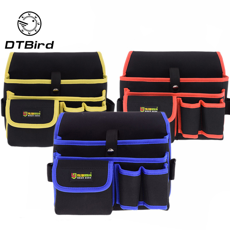 Multi-pockets Tool Bag Waist Pockets Electrician Tool Bag Water Proof Pouch Tools Bag Belt Waist Pocket Case High Capacity