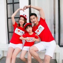 LOVE Family Set Matching Outfit Cotton T shirts Mother Daughter Father Son shirt Clothes Clothing 3XL GL22