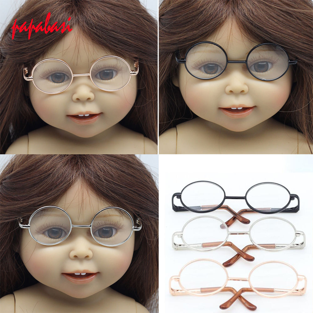 1 Pcs Fashion Glasses For 1/6 BJD Dolls  DIY Glasses for 1/3 American Girl Dolls Glasses Toys Girls Christmas Gift for Kids Toys 1pcs black sunglasses for american girl dolls as for bjd blyth dolls eyeglasses suit face width about 8cm dolls