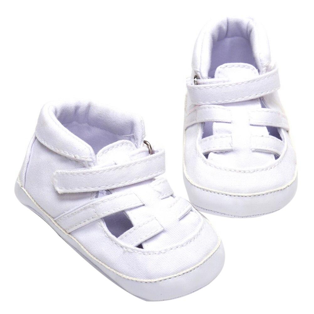 Baby Boys Antiskid Sandal Toddler Kids Soft Sole Crib Shoes Newborn Flat with Canvas Prewalker