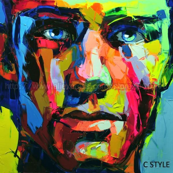 handmade oil painting on canvas multicolor francoise nielly