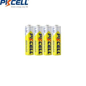 Image 2 - 4PCS PKCELL AA battery 600mah 1.2v NIMH AA rechargeable batteries aa batteria recharge and 1pcs AA battery box for Camera toys