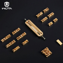 WUTA Custom Brass Letter Leather Alphabet / Number Stamp Embossing Stamp Craft Carving Tool