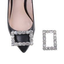 1 шт.; Элегантная Модная брошь из горного хрусталя для девочек; обувь на квадратном каблуке с пряжкой для невесты; очаровательные Металлические Хрустальные застежки для обуви; аксессуары для декора