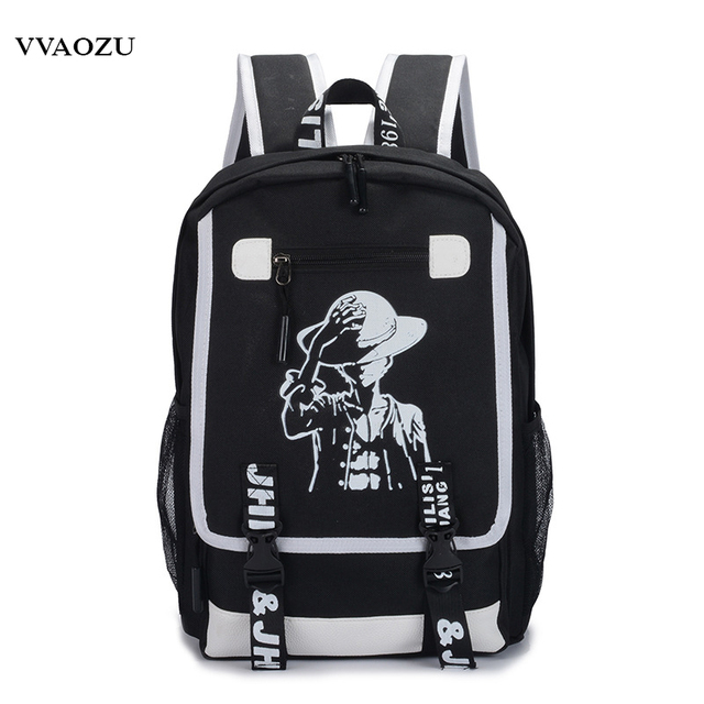 Japan Anime One Piece Luffy Teenagers Backpack Rucksack Harajuku Canvas  Student School Bag Bagpack Schoolbag Bookbag d15c6fb71807a