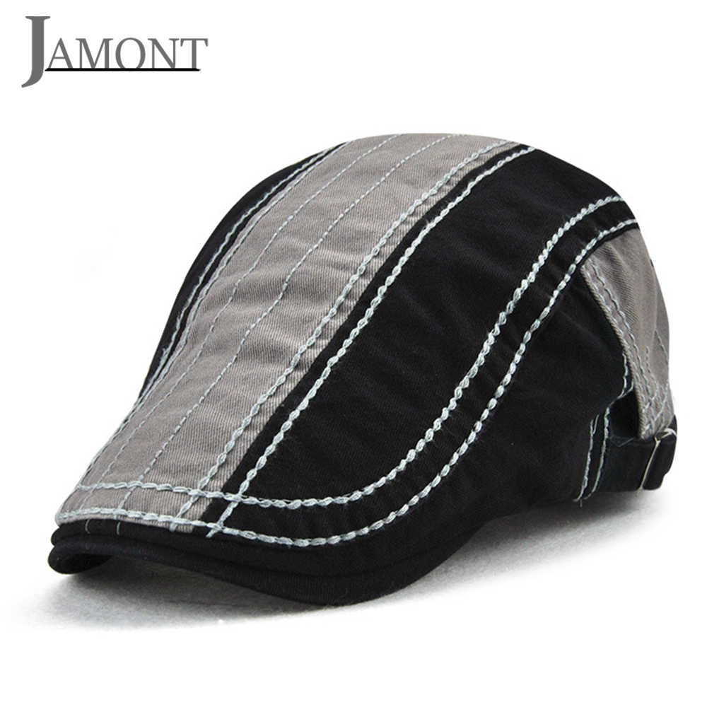 JAMONT Vintage Hat Casual Beret for Men Outdoor Sports Flat Hat Women s  Beret Summer Autumn Embroidery 787fbc2498da