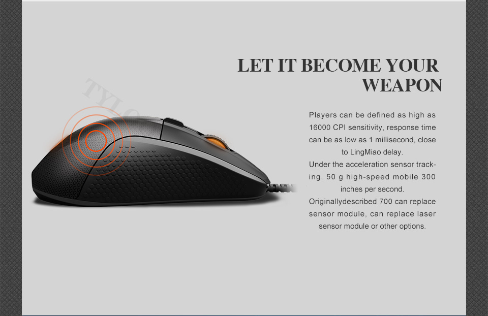 SteelSeries Rival 700 Gaming Mouse  USB Wired Mice 6500 DPI Optical Mouse Black Edition For FPS RTS MMO LOL Gamer Cheap 20