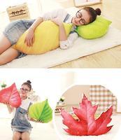 Candice Guo Plush Toy 3D Emulational Tree Maple Leaves Ginkgo Leaf Soft Sofa Pillow Cushion Sleeping