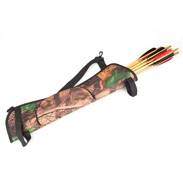 NEW ARRIVAL Brand New New Arrival Camo Archery Hunting Bow ARROW BACK /SIDE QUIVER Holder Bag Zipper