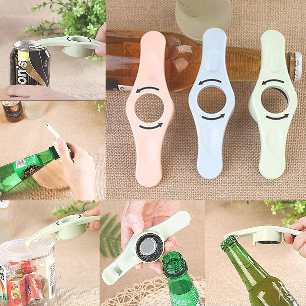 kitchen accessories 2019 4 IN 1 Bottle Opener Jar Can Kitchen Manual Opener Tool Multi functional(China)