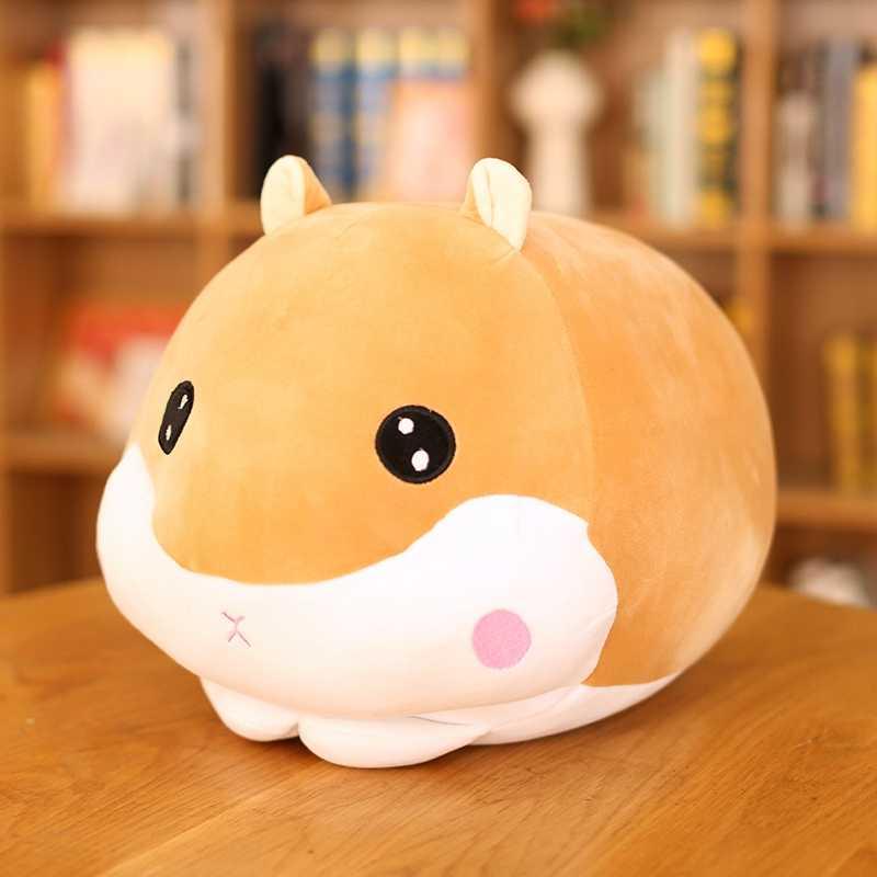 New1PC 45 センチかわいいハムスターマウスぬいぐるみ枕ぬいぐるみソフト動物とっとこハム太郎おもちゃ人形かわいいクリスマスギフトのための子供