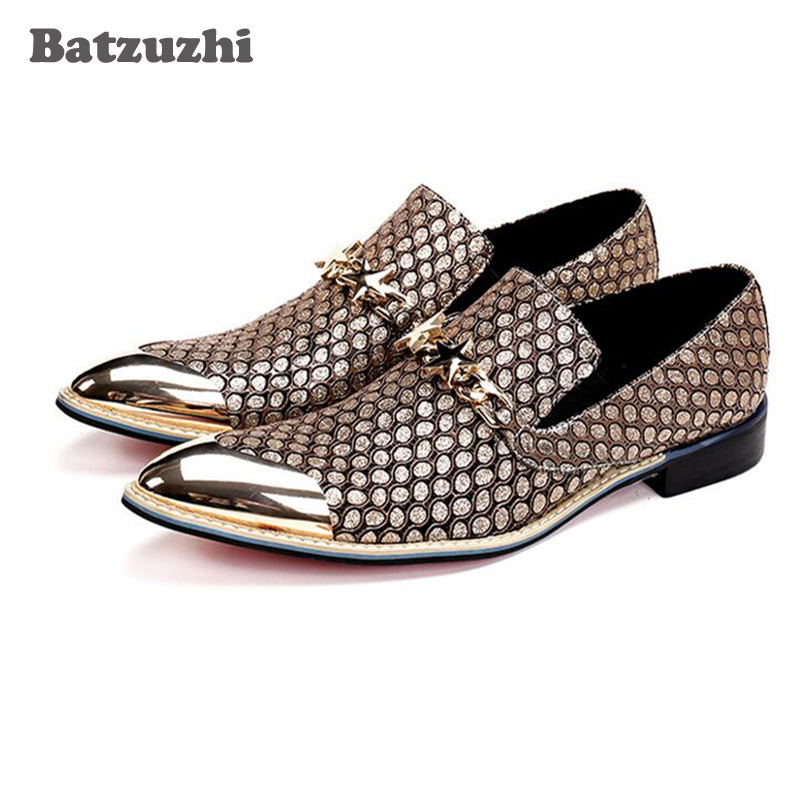 2018 Italian Fashion Men Shoes Genuine Leather Pointed Toe Dress Shoes Business Gold Wedding Formal Shoes Designer Sepatu Pria italian designer formal men dress shoes genuine leather flat shoes for office career shoes men business leather shoes 010 169