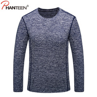 Phanteen Autumn Long Sleeve T Shirts For Men High Quality Quick Dry Elastic Breathable T Shirts