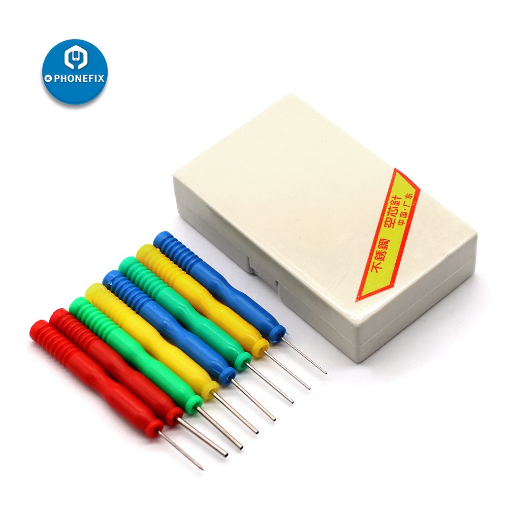 PHONEFIX 8Pcs Stainless Steel Hollow Needle Desoldering Tool Kit For Phone PCB Desoldering Electronic Component Disassemble Tool