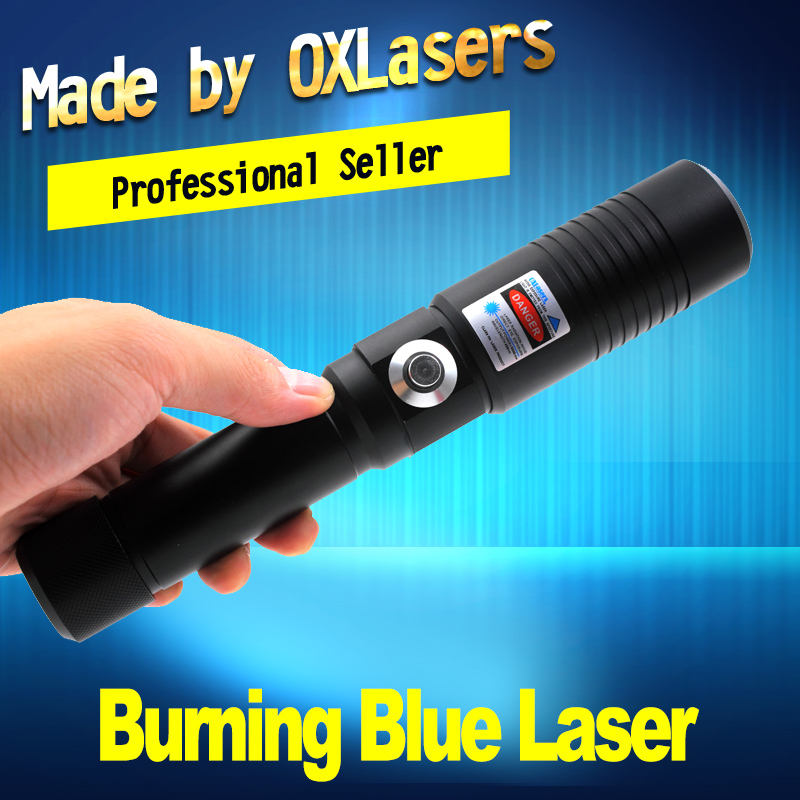 OXLasers OX-BX9 5000 m Gravure Laser Torche 445nm Focusable pointeur Laser bleu avec clé de sécurité brûler du papier livraison gratuite