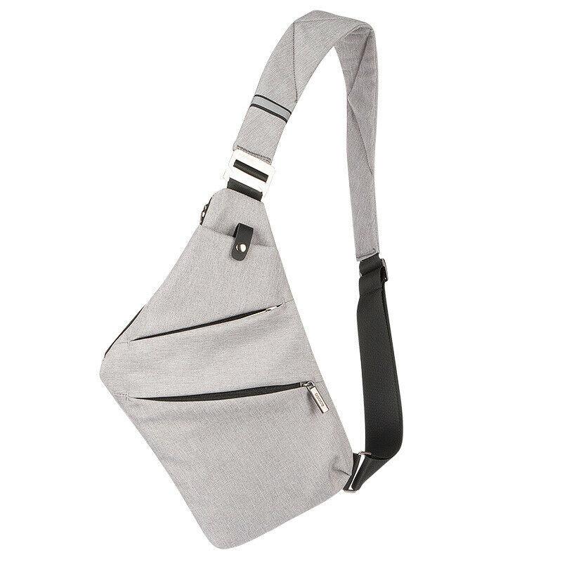 New Men's Chest Bag Multi-function Portable Purse Fashion Solid Color Sling Shoulder Bag Messenger Bag