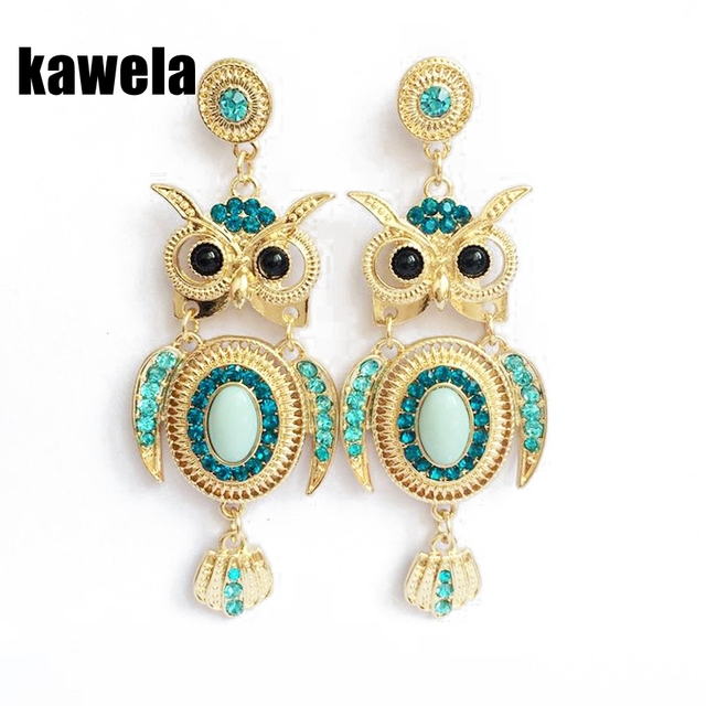 Free Shipping Hot Por Whole New Fashion Owl Earring Stud