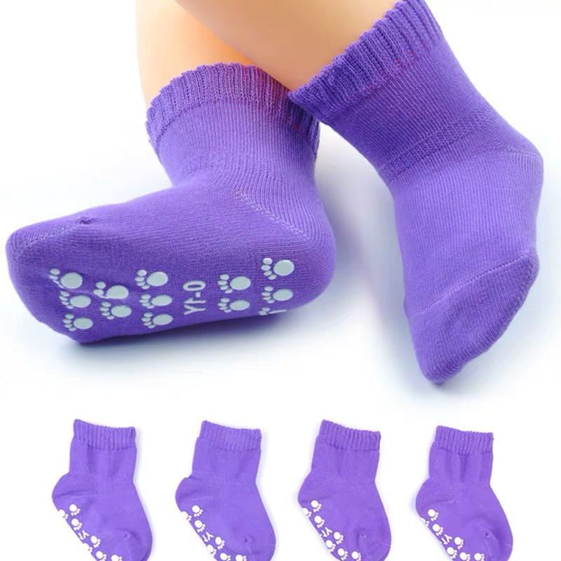 Candy Color Cotton Baby Socks Anti Slip Rubber Sole Socks Autumn Spring Girls Boys Kids Warm Floor Socks for 0-5 years old 3