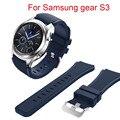 Nuevas correas de reloj negro 22mm marca de lujo nueva moda pulsera de silicona de deportes venda de la correa para samsung gear s3 frontera descuento grande