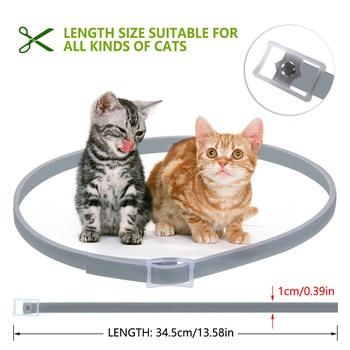 Colar do gato de Pulgas Carrapatos Anti Insetos Mosquitos J2Y 8 Meses de Proteção À Prova D' Água Ajustável