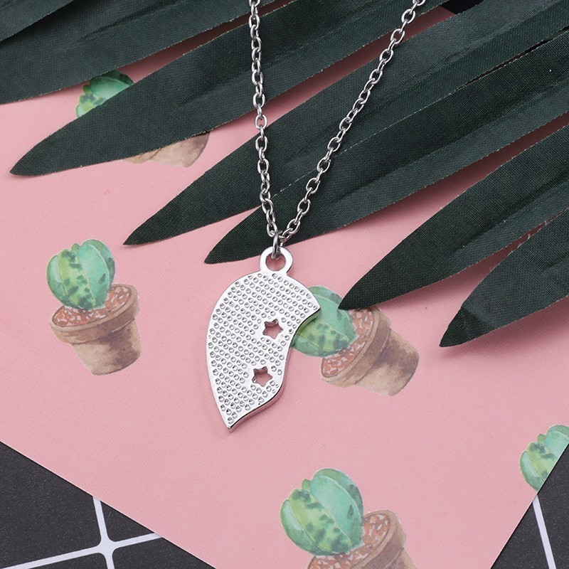Silver Heart Flower Floral Love Turquoise Necklace Pendant Jewellery Gift Bag