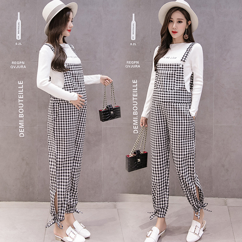 2018 winter women pregnant maternity casual cotton trouser suspender overalls bib trouser maternity clothing pants jumpsuit
