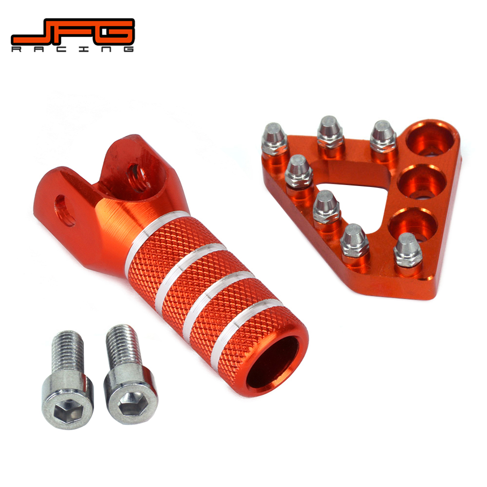 Billet  Rear Brake Pedal Step Tips And Gear Shifter Lever Tip Replacement For KTM SX EXC XCF 125 250 300 350 450 400 530|rear brake pedal|brake pedal|rear brake ktm -