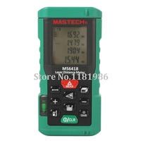 MASTECH MS6418 80m/262ft/3149in Laser Electronic Distance Meter Rangefinder Laser Ruler with Bubble Level