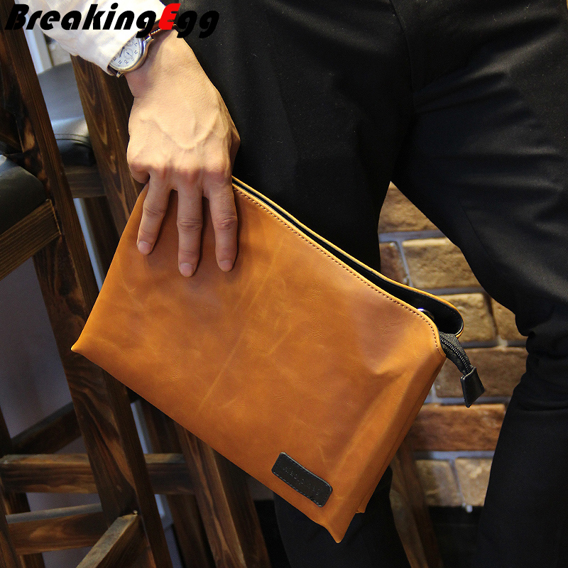Aliexpress.com : Buy PU leather men envelope clutch bag men ...