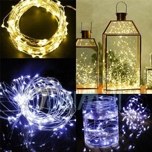 DIY2/3/5M LED Copper Wire String Waterproof Fairy holiday Lights Christmas garland tree home Decoration wedding Xmas Party lamp