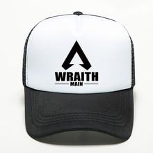 New Multi Styles Apex Legends Baseball Caps Handmade Printing Hip Hop Unisex Adjustable Hat Outdoors Sports Black & White Mesh