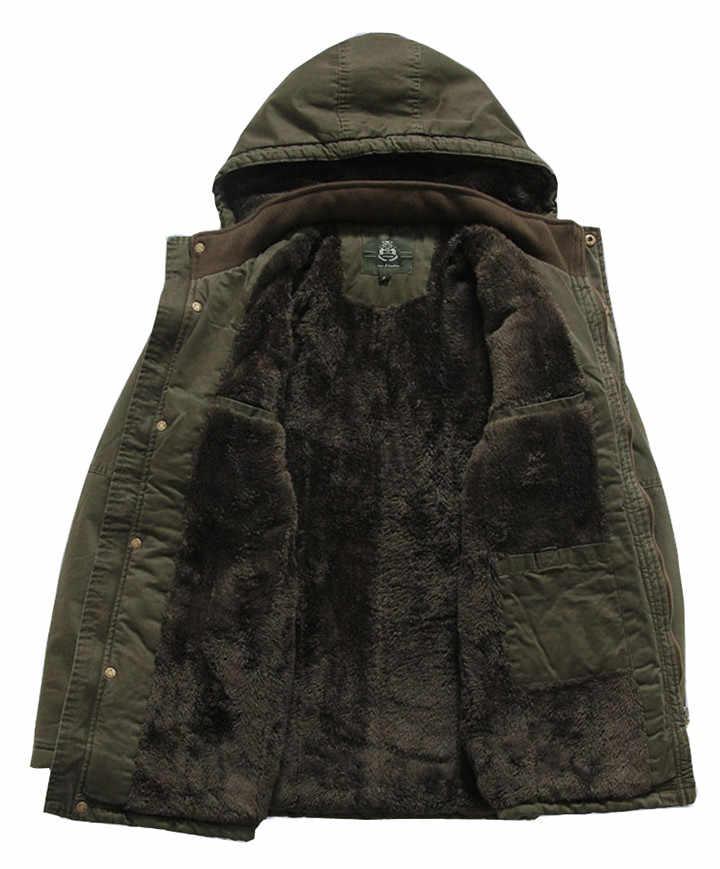 ロシア冬のジャケットの男性ブランド AFS ジープ軍事オーバー厚みのフリースサーマルパーカーオム中 · 長期ジャケットプラスサイズ 5XL