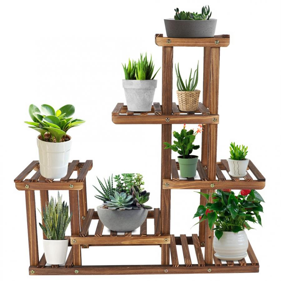 Multi Tiers Flower Plant Holder Stand Rack Wooden Plant Stand Balcony Garden Flower Plant Stand Bonsai Display Shelf Plant Shelves Aliexpress