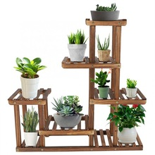 Stand-Rack Display-Shelf Plant-Holder Flower Bonsai Balcony Wooden Multi-Tiers