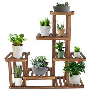 Multi-tiers Flower Plant Holder Stand Rack Wooden Plant Stand Balcony Garden Flower Plant stand Bonsai Display Shelf
