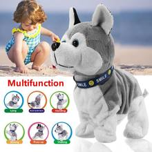 Cute Dog Doll Sound Control Electronic Toy Pet Model Puppy Bark Stand Walk Pekingese Husky Interactive Puzzle Gift(China)