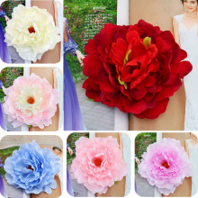 3pcs Silk Rose Artificial Flower Wedding Home Furnishings DIY Wreath Sheets Handicrafts Simulation Cheap Fake Flowers