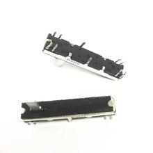 Black 4.5 cm long double mixer fader potentiometer B10K X2