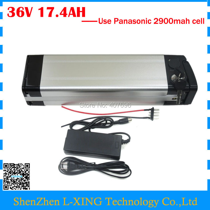 Free customs fee lithium battery 36V 17.4AH 1000W 36V 17AH use Panasonic 2900mah cell with aluminum case 30A BMS High quality free customs fee 24v 20ah lithium ion battery pack 24 v 20ah battery use 2500mah 18650 cell 30a bms with 3a charger