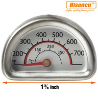 Hisencn 01T16 00473 Stainless Steel Heat Indicator Thermometer Temp Gauge Replacement For Charbroil Kenmore Gas Grill