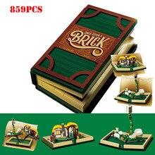 859Pcs Creator Series Fairy Tale Pop-up 3D Book Building Blocks Compatible Legoed Idea City Books Bricks Children Toys Gift(China)