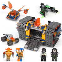 676pcs Knights Nexo Knights Axl's Rolling Arsenal Destroyer 14042 Model Building Blocks Toy Bricks Nexus Compatible With legoING
