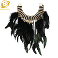 2015 The Latest Precious Peacock Feathers Handmade Fashion Necklace Super Gorgeous Crystal Mosaic Long Necklaces & Pendants