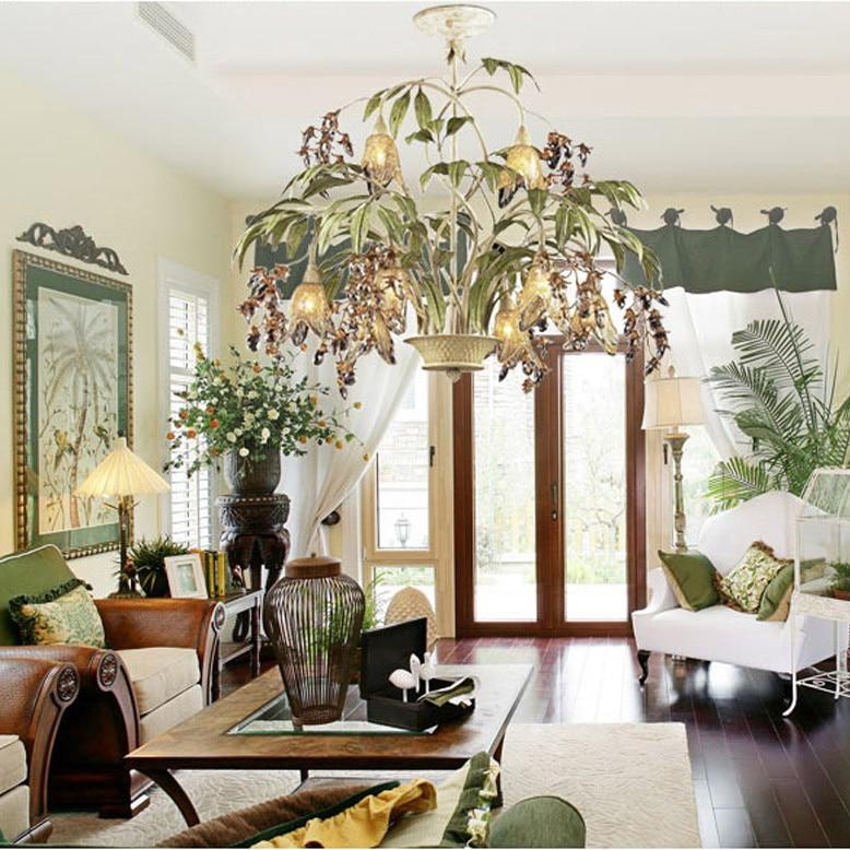 G9 led amerykański w kształcie kwiatu żelaza kryształowa lampa led lampa sufitowa led światła sufitowe lampy sufitowe led do sypialni foyer